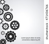 gear cog circle machine part... | Shutterstock .eps vector #471436766