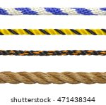 segments of rope cord isolated...