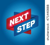 next step arrow tag sign. | Shutterstock .eps vector #471440888