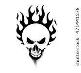 skull   Shutterstock .eps vector #471441278