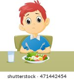 illustration of kid sad with... | Shutterstock .eps vector #471442454