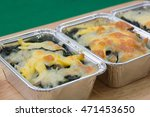 baked cheese spinach in box  ... | Shutterstock . vector #471453650