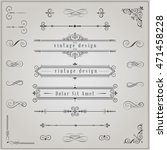 set of vintage decorative... | Shutterstock .eps vector #471458228