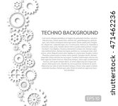 techno background with white... | Shutterstock .eps vector #471462236