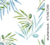seamless pattern with olive... | Shutterstock . vector #471467240