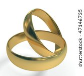 wedding rings 3d | Shutterstock . vector #47146735