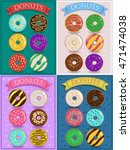 vintage cards with colorful... | Shutterstock .eps vector #471474038