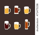 icons set of beer mugs. vector... | Shutterstock .eps vector #471475238