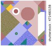 trendy geometric elements... | Shutterstock .eps vector #471480158