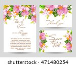 abstract flower background with ... | Shutterstock . vector #471480254