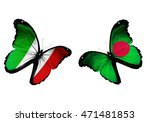concept   two butterflies with... | Shutterstock . vector #471481853