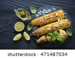 Bbq Corn With Cheese  Lime And...