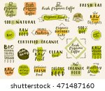 organic fresh coffee. fresh... | Shutterstock .eps vector #471487160