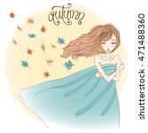 hand drawn beautiful... | Shutterstock .eps vector #471488360