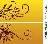 banner floral decoration design.... | Shutterstock .eps vector #47149333