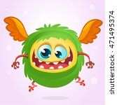 cute cartoon  monster.... | Shutterstock .eps vector #471495374