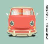 pink color minibus . cartoon... | Shutterstock . vector #471505889