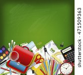 back to school background with... | Shutterstock . vector #471509363