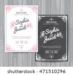 wedding invitation vintage card ... | Shutterstock .eps vector #471510296