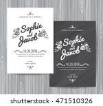 wedding invitation vintage card ... | Shutterstock .eps vector #471510326