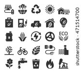 ecology icon set 9  vector... | Shutterstock .eps vector #471514700