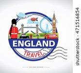 london  england vector travel... | Shutterstock .eps vector #471516854