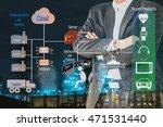 industry 4.0 and smart... | Shutterstock . vector #471531440