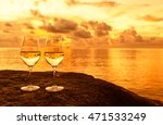 pair of wine glasses next to a... | Shutterstock . vector #471533249