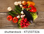 fresh vegetables on a clean... | Shutterstock . vector #471537326