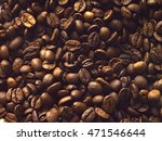 brown coffee beans  background... | Shutterstock . vector #471546644