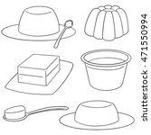 vector set of jelly | Shutterstock .eps vector #471550994