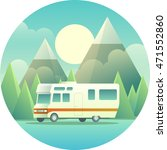 flat illustration of a rv in... | Shutterstock .eps vector #471552860