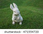 Rabbit Doll Sculpture Grass...