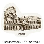 drawing of coliseum  colosseum... | Shutterstock . vector #471557930