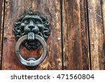 close up of an old door knocker | Shutterstock . vector #471560804