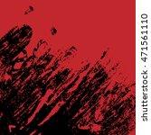 red and black ink splash... | Shutterstock .eps vector #471561110