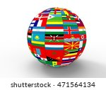 3d illustration of earth globe... | Shutterstock . vector #471564134