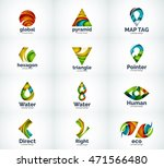 set of abstract vector company... | Shutterstock .eps vector #471566480