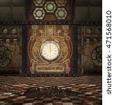steampunk fantasy room with... | Shutterstock . vector #471568010