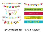 colorful bunting and garlands...   Shutterstock .eps vector #471572204