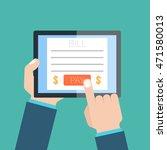 online invoice  | Shutterstock . vector #471580013