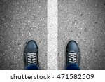 black casual shoes standing... | Shutterstock . vector #471582509