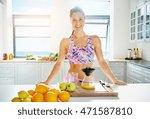 beautiful vivacious woman... | Shutterstock . vector #471587810