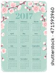 Calendar For 2017 Year With...