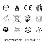 set of packaging symbols....