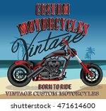 custom motorcycle typography  t ... | Shutterstock .eps vector #471614600