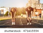 fit healthy couple doing... | Shutterstock . vector #471615554