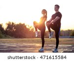 young caucasian man and woman... | Shutterstock . vector #471615584