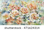Roses  Oil Painting On Canvas.