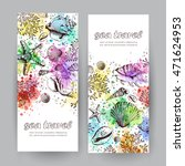 set of two vertical banners... | Shutterstock . vector #471624953